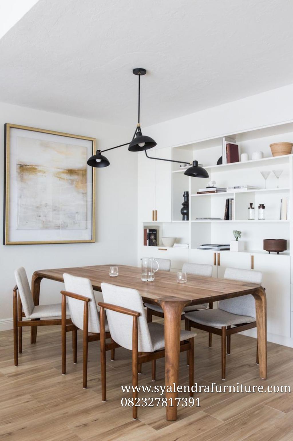 Meja Makan Terbaru Kursi Cafe Jok Natural Syalendra Furniture